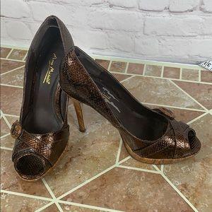 Ann Michelle foxy platform heels